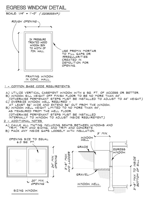 Bedroom egress window requirements for Bedroom window egress requirements
