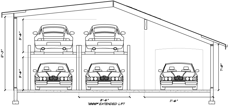 Car Storage - Garage Addition  sc 1 th 153 & Owens - Laing LLC - Car Lift Garage Addition