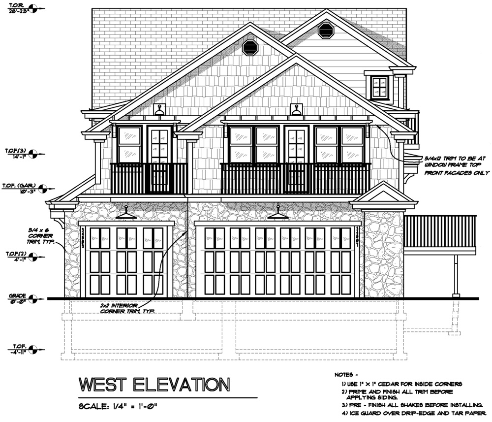Owens Laing Llc Sample Elevation Drawing