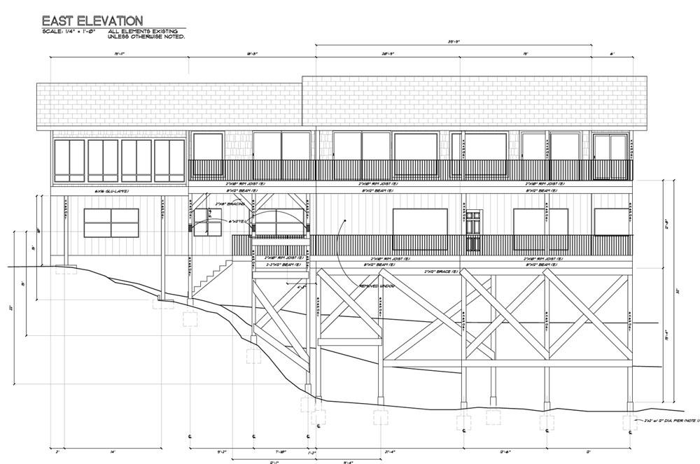 Elevation Plan Sample : Owens laing llc sample elevation drawing