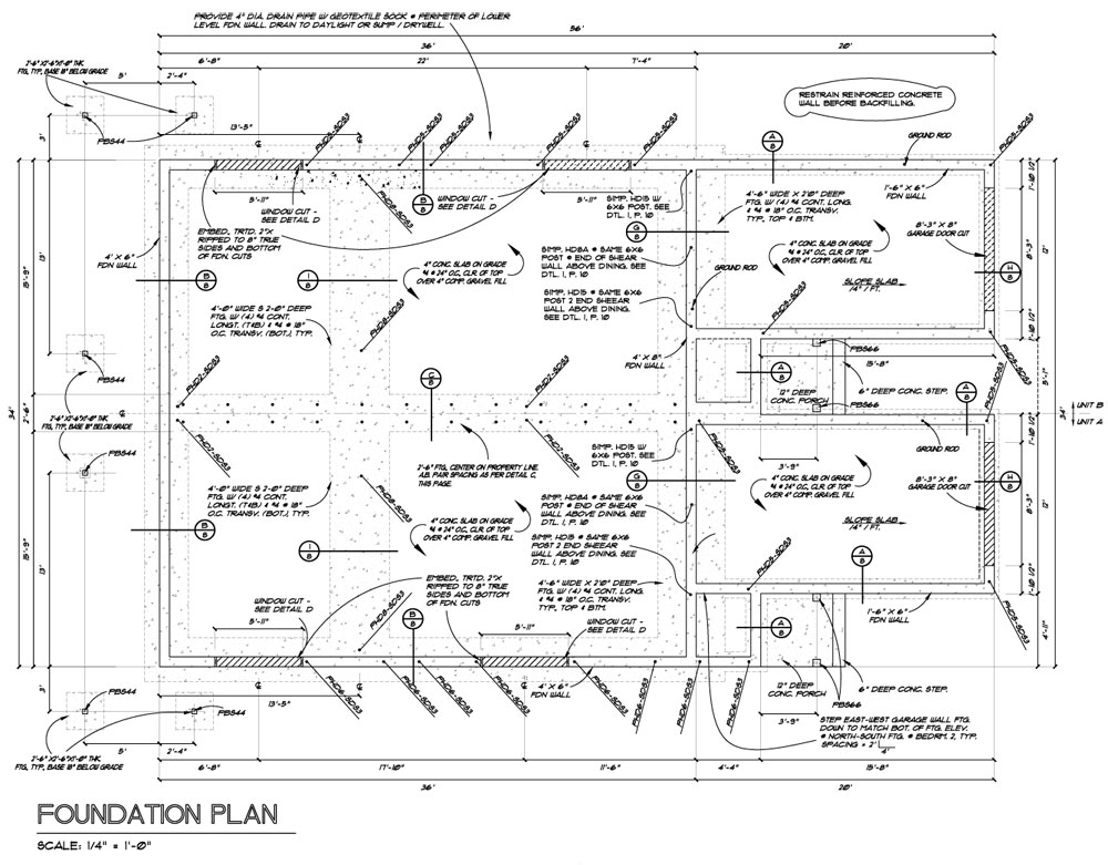 Owens Laing Llc Sample Foundation Plan Drawing