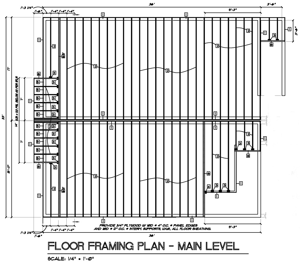 Owens laing llc sample framing plans for Frame plan
