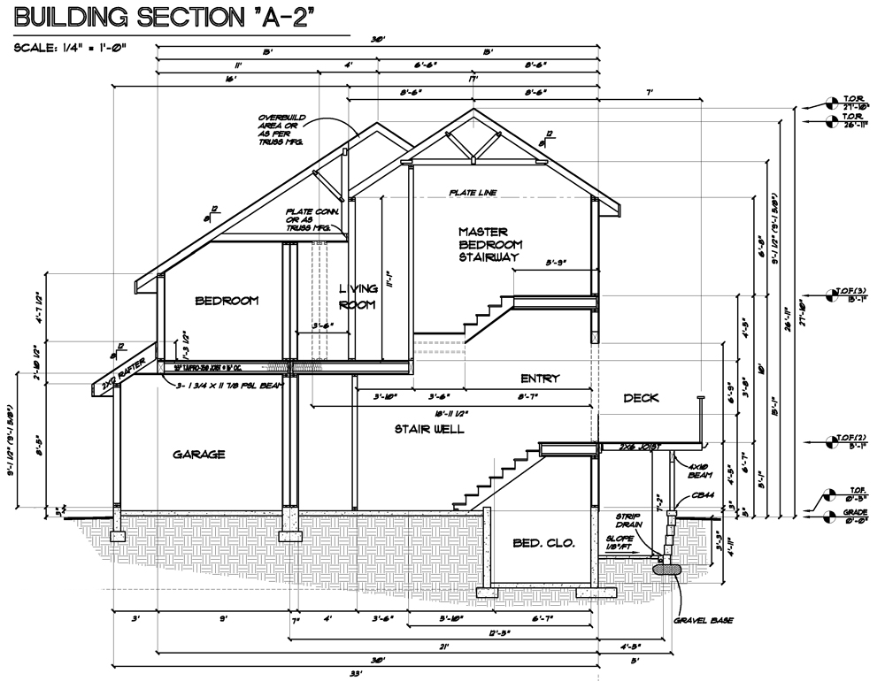 Cross Section Drawings Plan Cross Section Sample